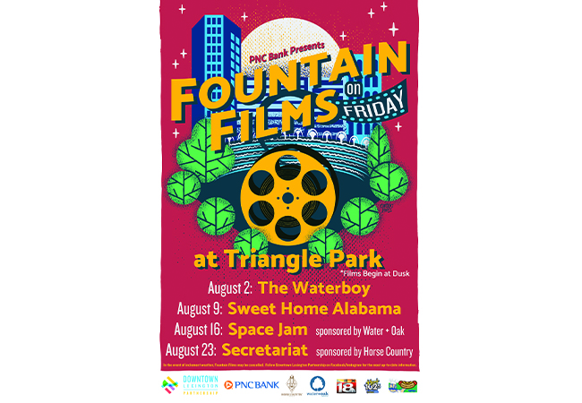 PNC Bank Presents Fountain Films on Friday Series Beginning