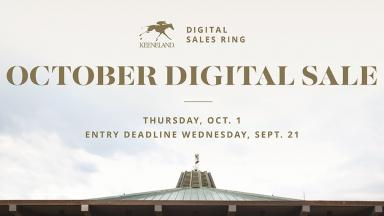 Keeneland Accepting Entries for New October Digital Sale