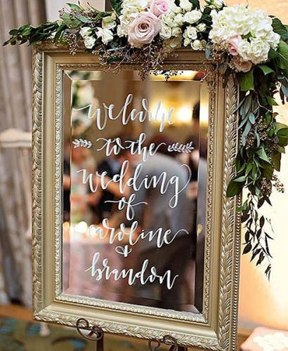 Wedding Trends: Mirror Messaging